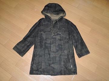 シェラックSHELLAC7分丈パーカージャケット48迷彩柄