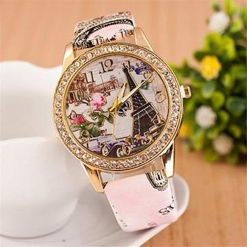 多機能アウトドア 腕時計 男女兼用 ピンク