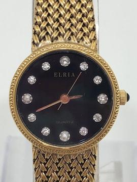 T289 美品 ELRIA エルリア クオーツ レディース 腕時計