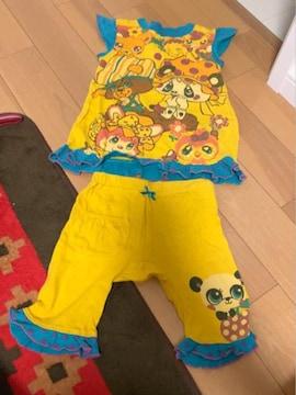 グラグラドットフリルプリントがオシャレで可愛い楽ちんパジャマ