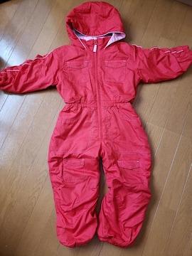☆新品同様☆女の子スノーウェアつなぎ☆100
