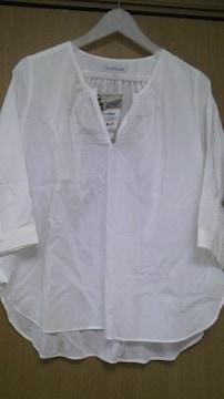 新品・ポプリンガブリシャツ七分袖M