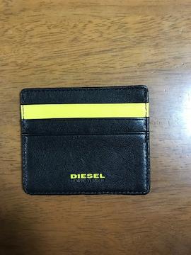 新品*非売品*DIESEL(ディーゼル)レザーカードケース