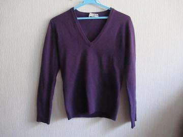 有名ブランド&超美品★Christian Dior★カシミア70%/紫/M