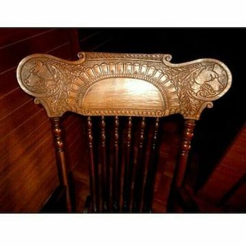 狼 木彫り ロッキングチェア インテリア イス 椅子 ビンテージ
