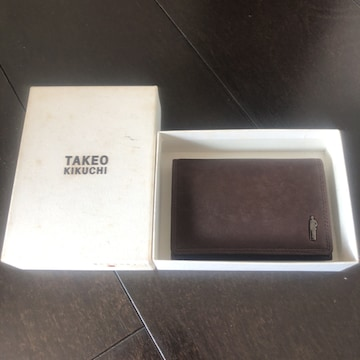 即決 TAKEO KIKUCHI タケオキクチ 名刺入れ カードケース
