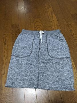 スカート/膝丈/台形型/灰色/Lサイズ