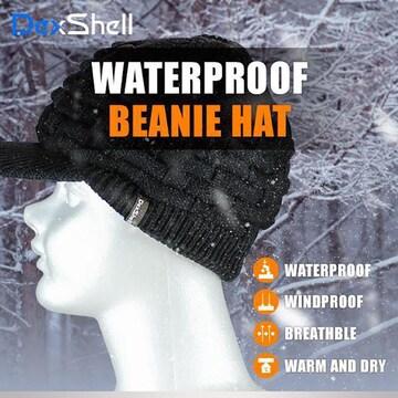 防水 通気 ニット帽 DH393-B ツバ付 ブラック 黒 DexShell 帽子 アウトドア