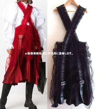 美品 20AW noir kei ninomiya 吊り ジャンパースカート