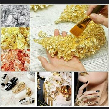新品 未使用 金、銀、銅箔 模造品 コーディネート ネイル
