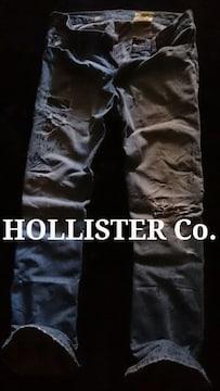 【Hollister】ホリスター Vintage Painted デストロイジーンズ 32/L.Wash