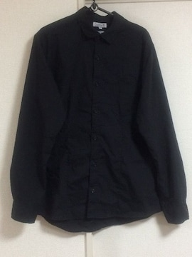 ブラック シャツ 長袖 無地 美品