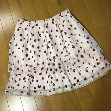 プライベートレーベル ピンク シフォン ミニスカート