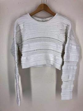 HELMUT LANG(ヘルムートラング)ショート丈 編みニット セーターニット・セーター
