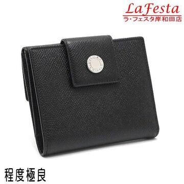 本物美品◆ブルガリ【人気】両面開き2つ折り財布(レザー黒/箱