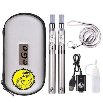 電子タバコアトマイザー1100mAH禁煙 スチール/シルバー