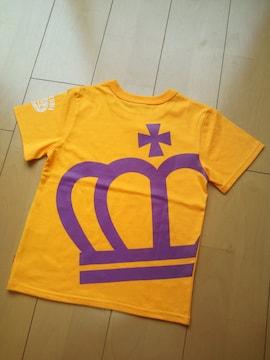 新品斜め王冠Tシャツ ゴールドイエロー120ベビードールBABYDOLL