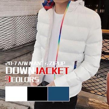 薄めのダウンジャケット メンズ 軽めアウター ライトダウン 軽量