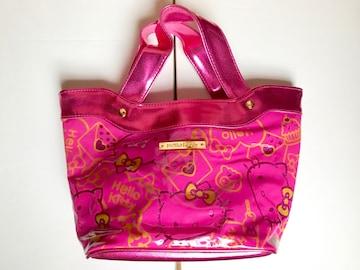 【送料無料】ハローキティ キラキラピンク 手提げバッグ