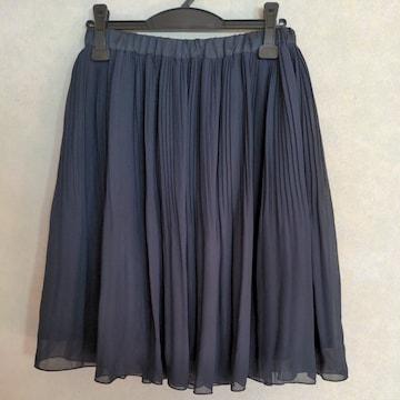 卒業・入学☆セレモニー☆消しプリーツスカート☆L☆ネイビー