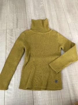F.O女の子タートルトップス110ニットセーター綿100%