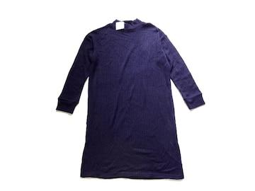 新品 定価2680円 COLZA コルザ ハニーズ ニット ワンピース 紺