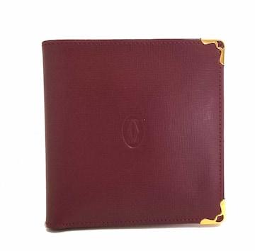 正規未使用カルティエマスト二つ折り財布コインケース付き2つ折
