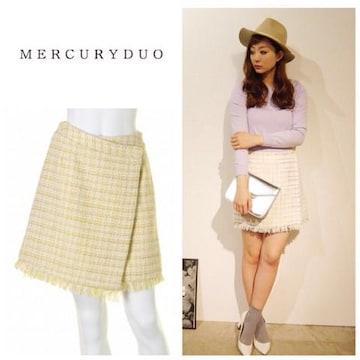 定価9,980円【新品未使用】MERCURYDUO ツイードタイトスカート