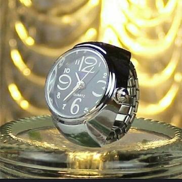 新品 未使用 指輪 時計 シンプル 黒