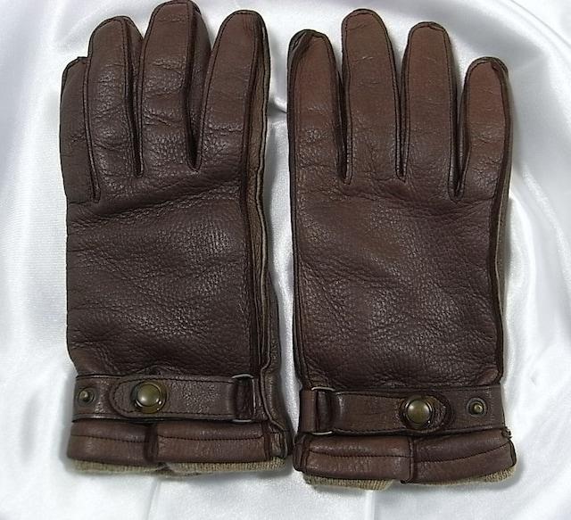 確実正規ジョルジオアルマーニ レザー手袋8ハーフ