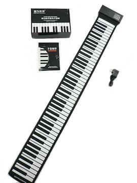 シリコン電子ピアノ 88キー・ 充電バッテリー内蔵・未使用品