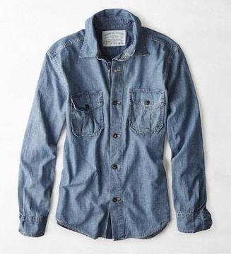 【American Eagle】Vintage AEOデニムシャツ XL/インディゴ