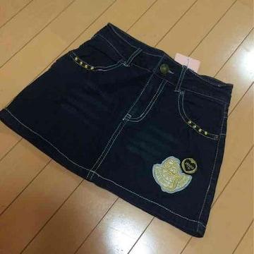 新品◆ジェニィ◆デニムミニスカート◆150ワッペンJENNI