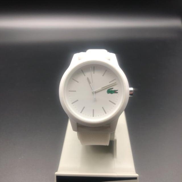 即決 LACOSTE ラコステ 腕時計 ホワイト < ブランドの