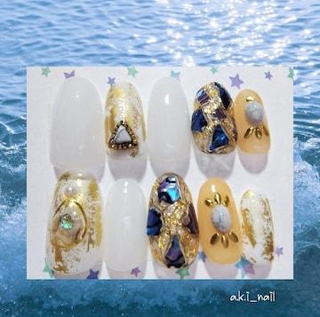 現品販売☆ミディアム標準25468/ジェルネイルチップ☆付け爪