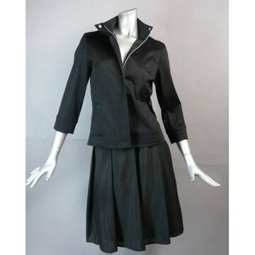 【新品★7号】 黒のジャケット七分袖★美シルエット★送料180円
