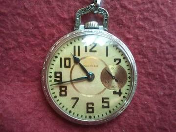 ☆ハイデザイン☆【ウォルサム 懐中時計】1908年製 最高機種リバーサイド 19石