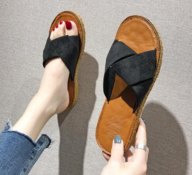 Y169即決 新品 ミュール 黒 24cm エスペランサ R&E ピンキー ザラ 好きに  < 女性ファッションの