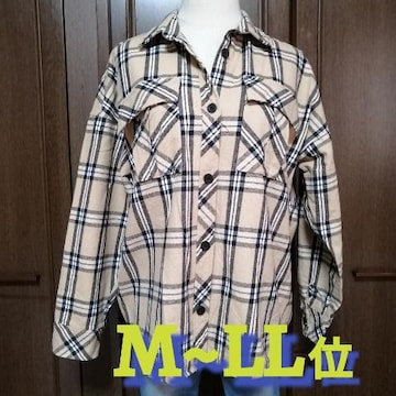 M~LL位/厚手チェック柄シャツ