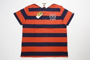 オーシャンパシフィックポロシャツM赤×紺◆QUIKSILVER系