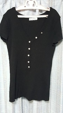 黒のサマーセーター★半袖★Mサイズ美品