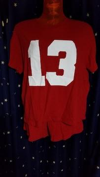 赤のTシャツ&ショーパンのセット