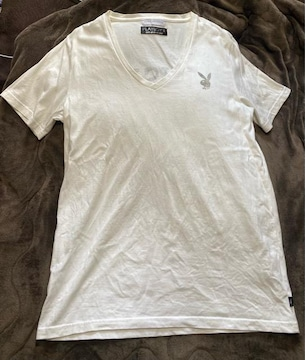 nano・universe×PLAYBOY☆コラボレーションVネックTシャツ☆