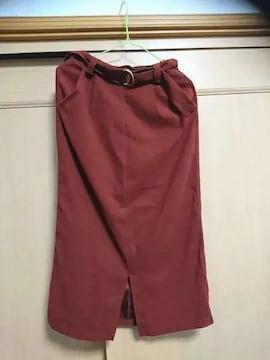 ☆*。ひざ丈タイトスカート テラコッタ☆*。