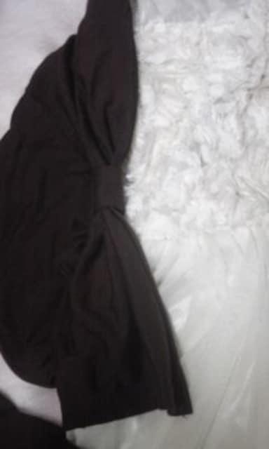 送料半額♪ブラウン.リボンが2個両方に着てoK♪ヽ(´▽`)/♪♪♪ < 女性ファッションの