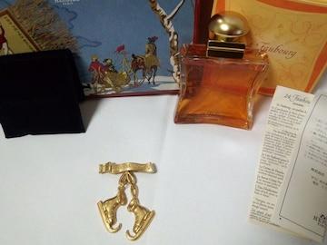 正規未限定 HERMES エルメス スケートシューズブローチ ゴールド 香水 セット