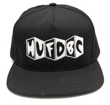 HUF スナップバックキャップ ブラック DBCロゴ FTC