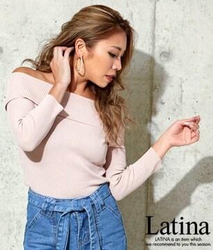 anap Latina リブニット オフショルダー タイト トップス F
