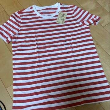 新品タグ付き 無印良品 ボーダーTシャツ 990円