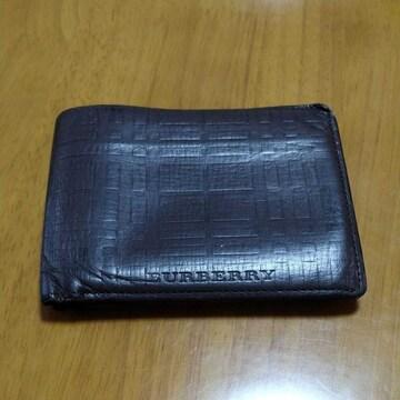 訳あり!BURBERRY☆メンズ 財布 コンパクト ブラウン 正規品